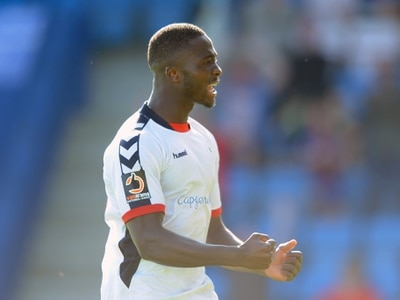 AFC Telford striker Daniel Udoh working hard to shake off extra attention