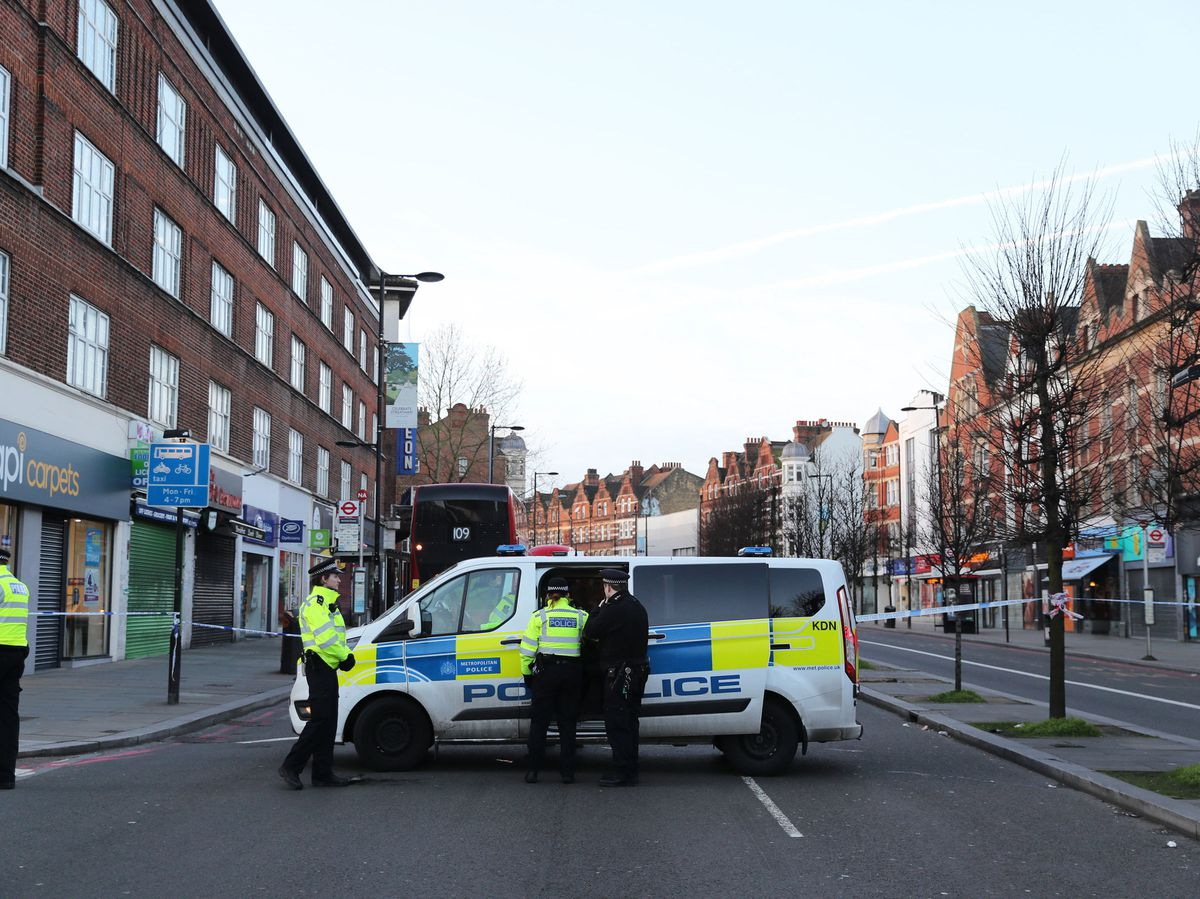 Police activity at the scene following the terror attack in Streatham High Road, south London by Sudesh Amman, 20, who was shot dead by armed police following what police declared as a terrorist-related incident. PA Photo. Picture date: Monday February 3, 2020. See PA story POLICE Streatham. Photo credit should read: Aaron Chown/PA Wire