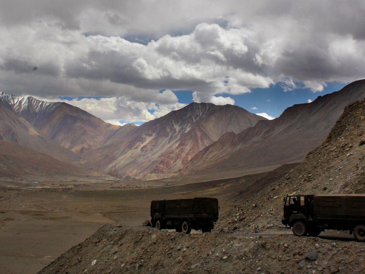 The India-China border in India's Ladakh area