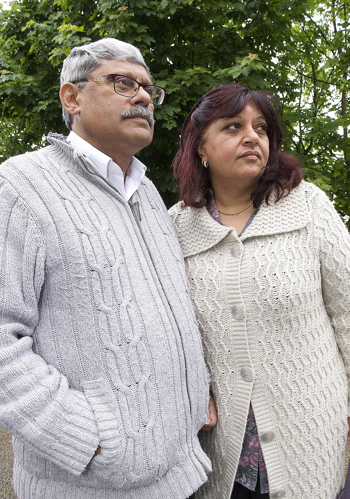 Rubbina Shaheen with her husband Mohamad