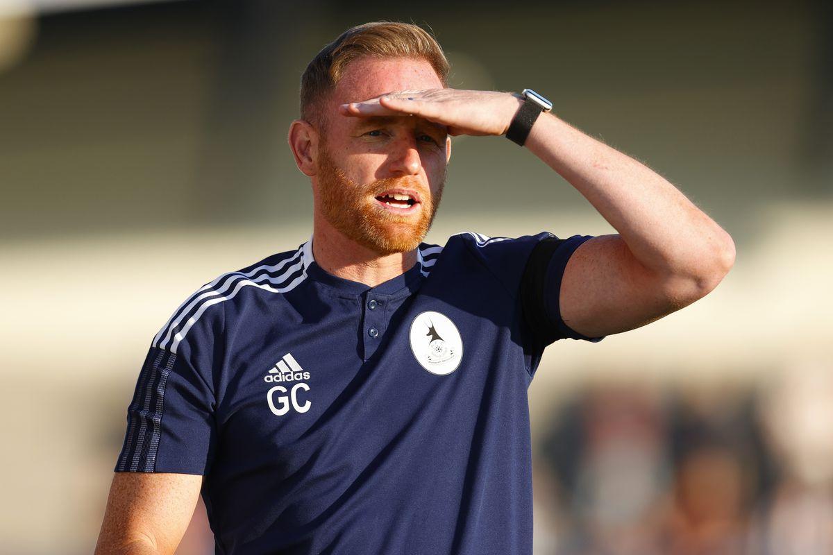 Gavin Cowan the head coach / manager of AFC Telford United.