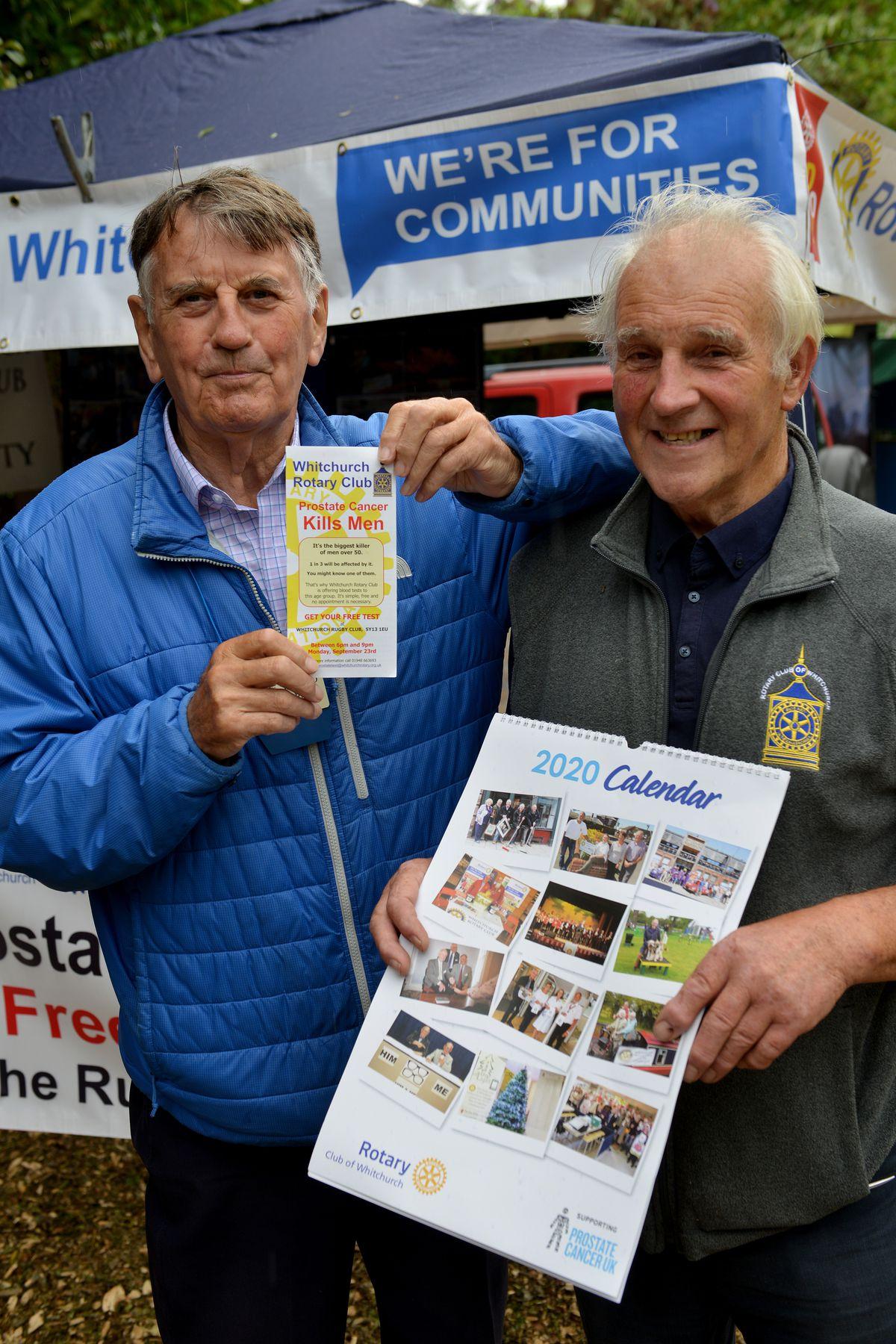 Howard Jones and Keith Senior from the Rotary Club