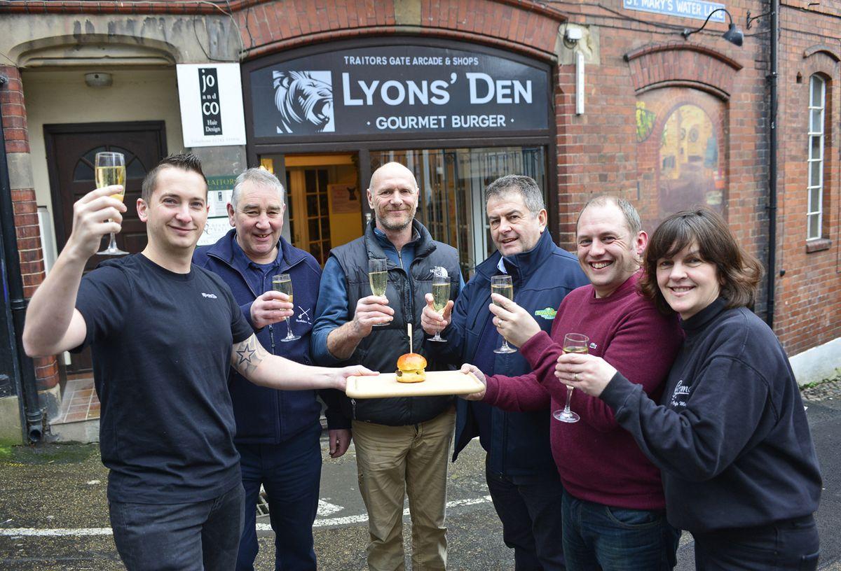 Adam Lyons, John Pitcher, Rob Cunningham, Peter Rowlands, Rob Swift and June Turner