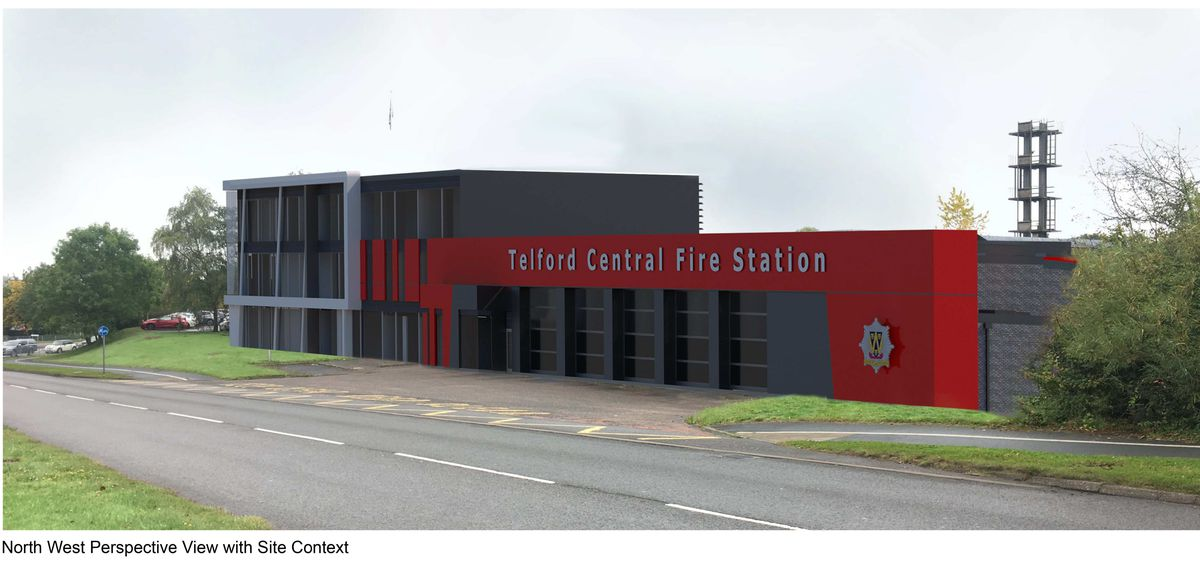 Computer generated image of how the fire station will look