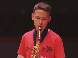 Louis also played saxophone - having reached grade 5