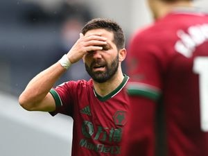 Joao Moutinho of Wolverhampton Wanderers reacts (AMA)