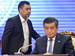 Kyrgyzstan Prime Minister Sadyr Zhaparov and ousted president Sooronbai Jeenbekov