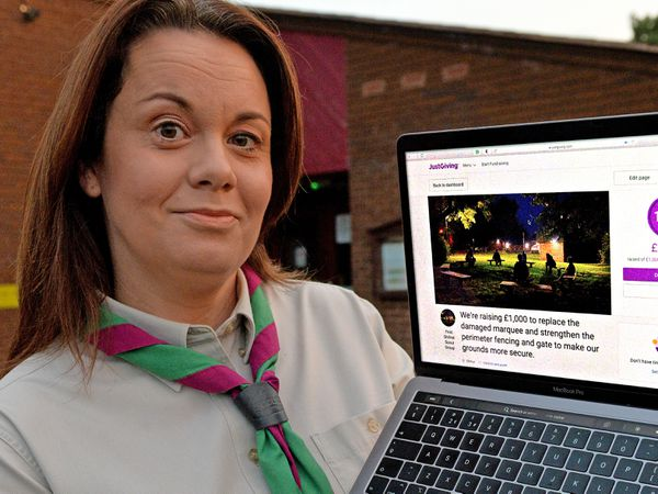 Emma Heyes, of the 1st Shifnal Scouts, which held an online funds appeal after vandals damaged a meeting tent