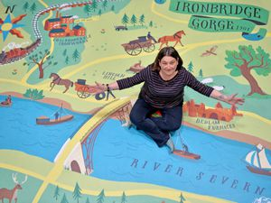 LAST COPYRIGHT TIM STURGESS SHROPSHIRE STAR...... 12/05/2021. New interactive dispalys mark re-opening of Engenuity to the public at Ironbridge Gorge Museums. Pictured with the Fairytale crossing is Amanda Phillipson..