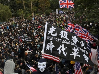 Hong Kong protesters call for boycott of Communist Party
