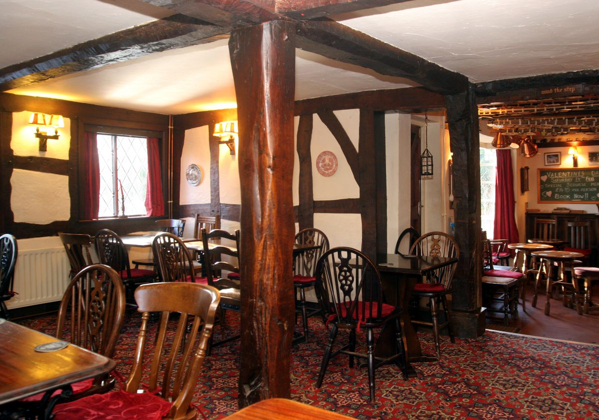 The cosy and welcoming interior of The Boot Inn, Orleton
