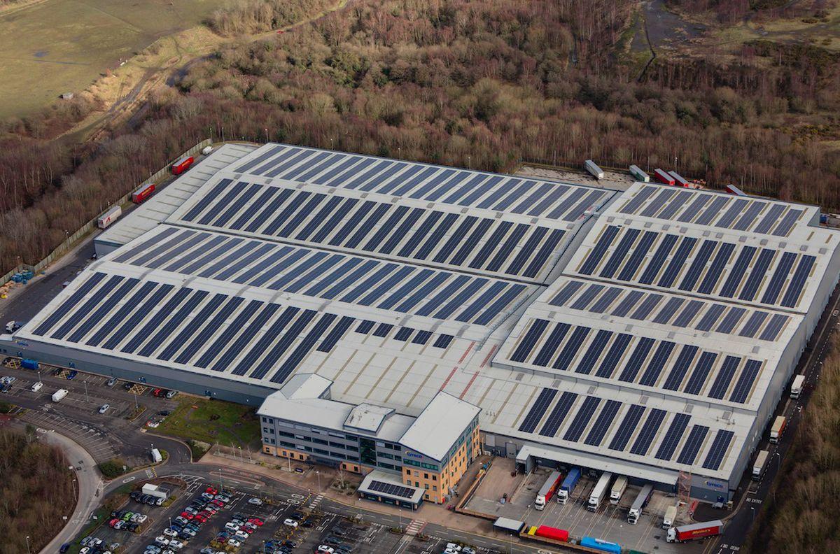 The massive solar farm at Lyreco
