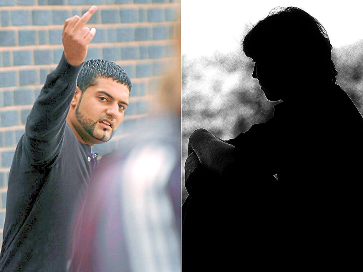 Contempt – Mubarek Ali during his trial in which he was jailed. Victims in Telford are living in fear, says MP Lucy Allan.