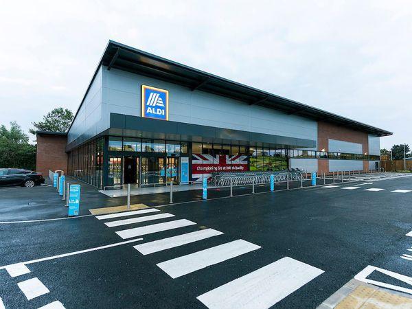 The Aldi store at Milton Drive, Market Drayton