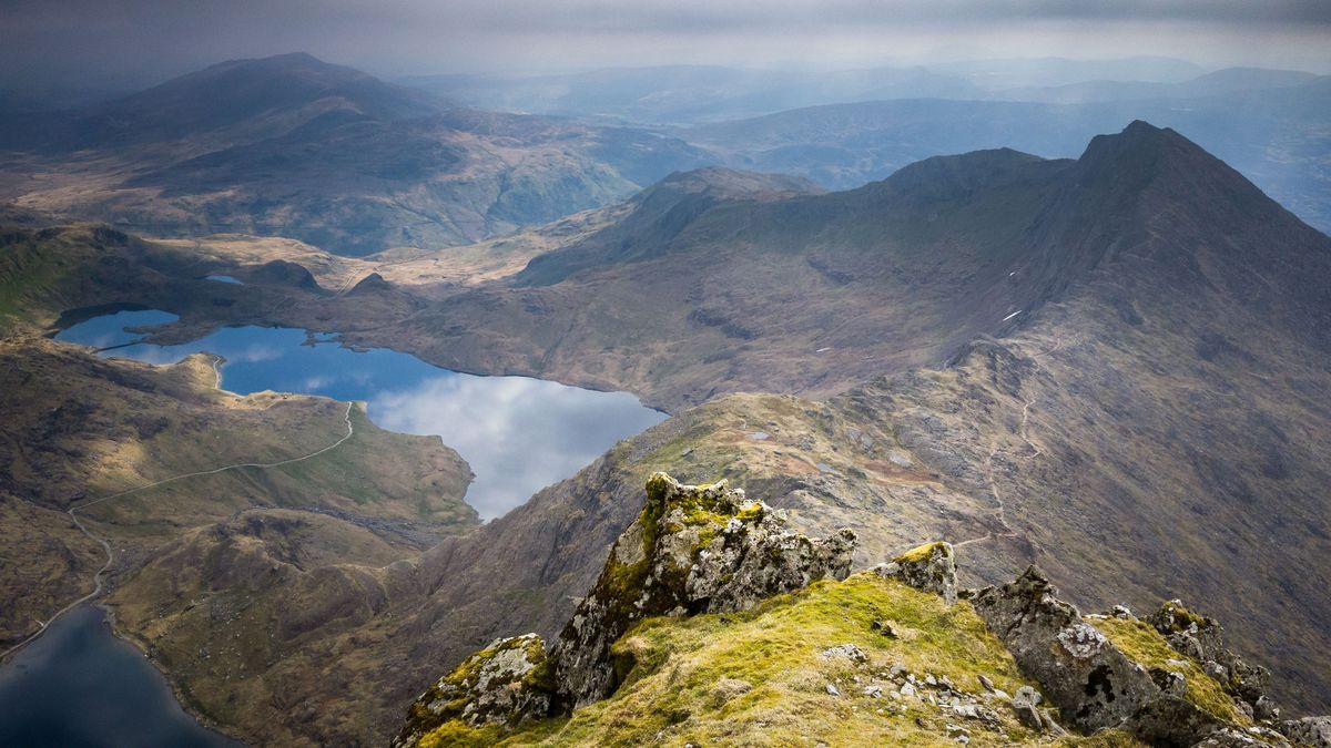 The view over Snowdonia from Snowdon