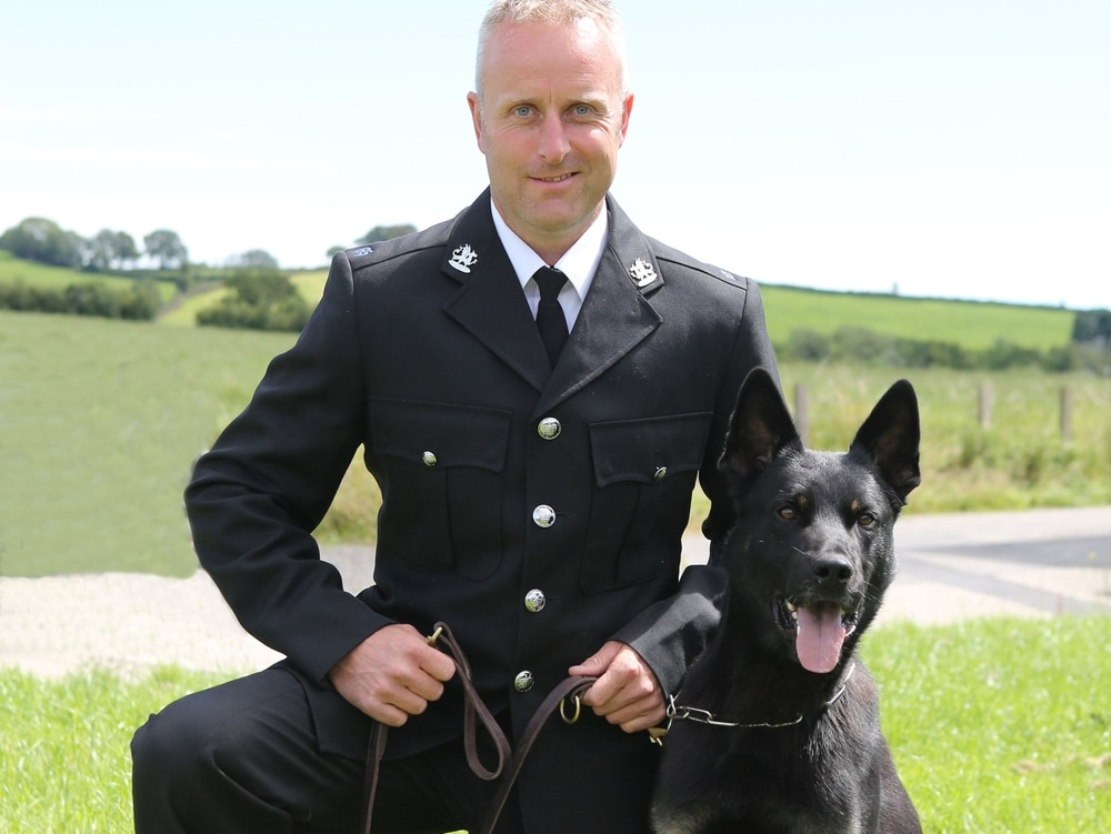 On First Shift, Police Dog Becomes a Hero