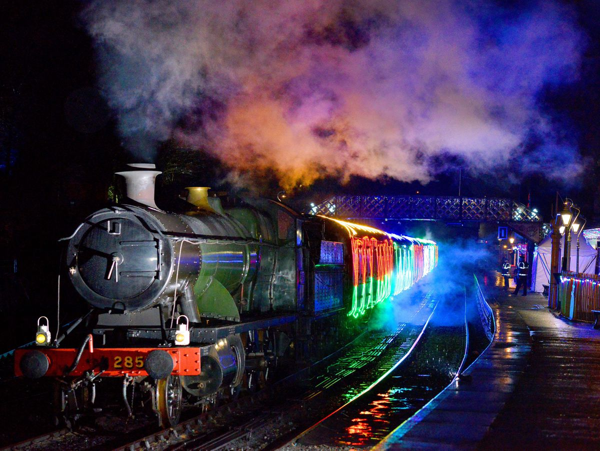 Bridgnorth at the Severn Valley Railway where they had there Lights and Steam event