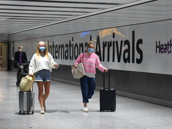 Travellers arrive at Heathrow