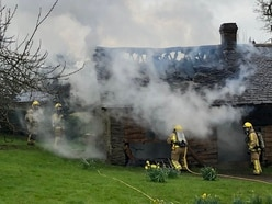 Crews tackle outbuilding fire in Craven Arms