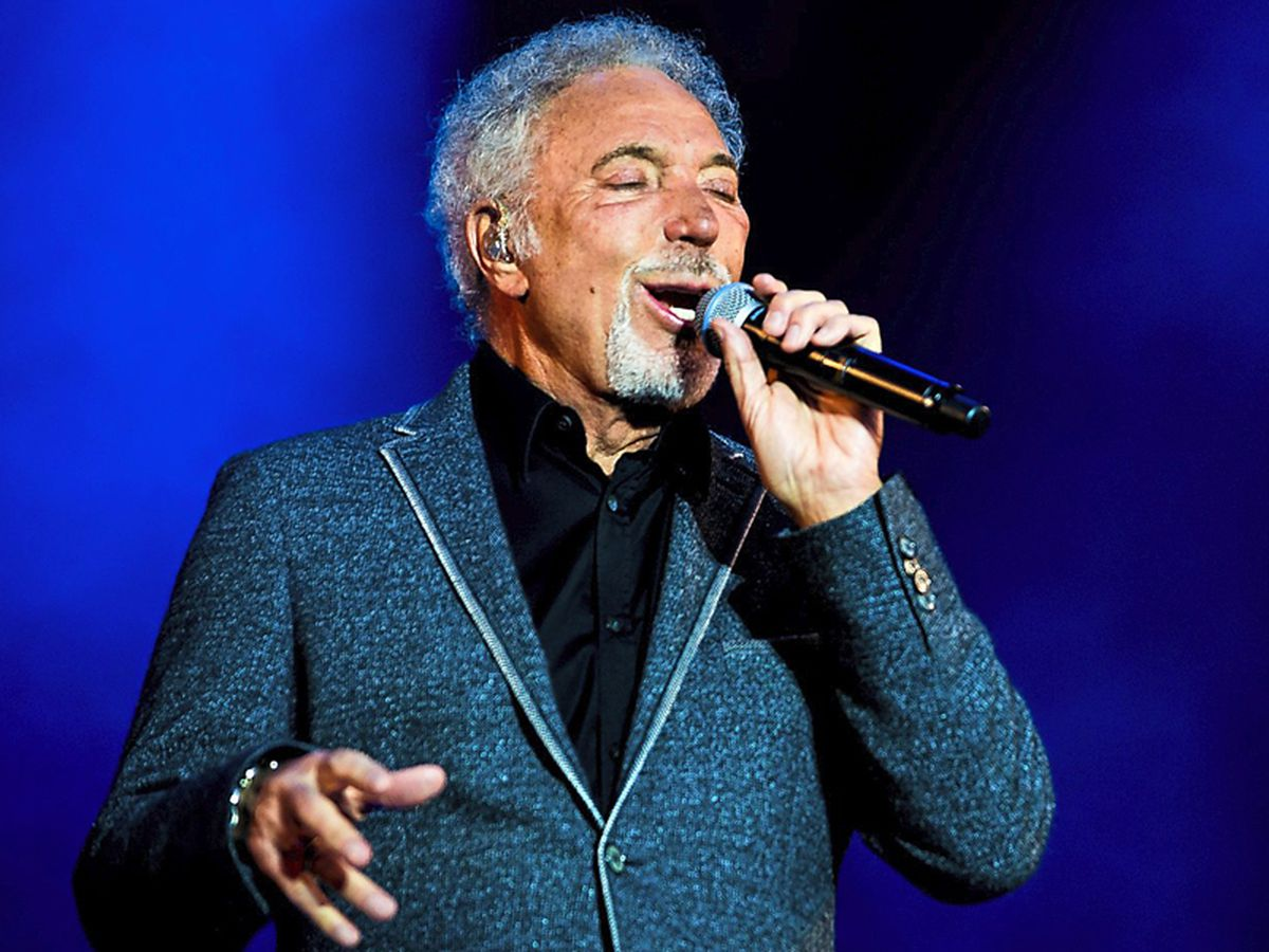 Tom Jones performing at Weston Park