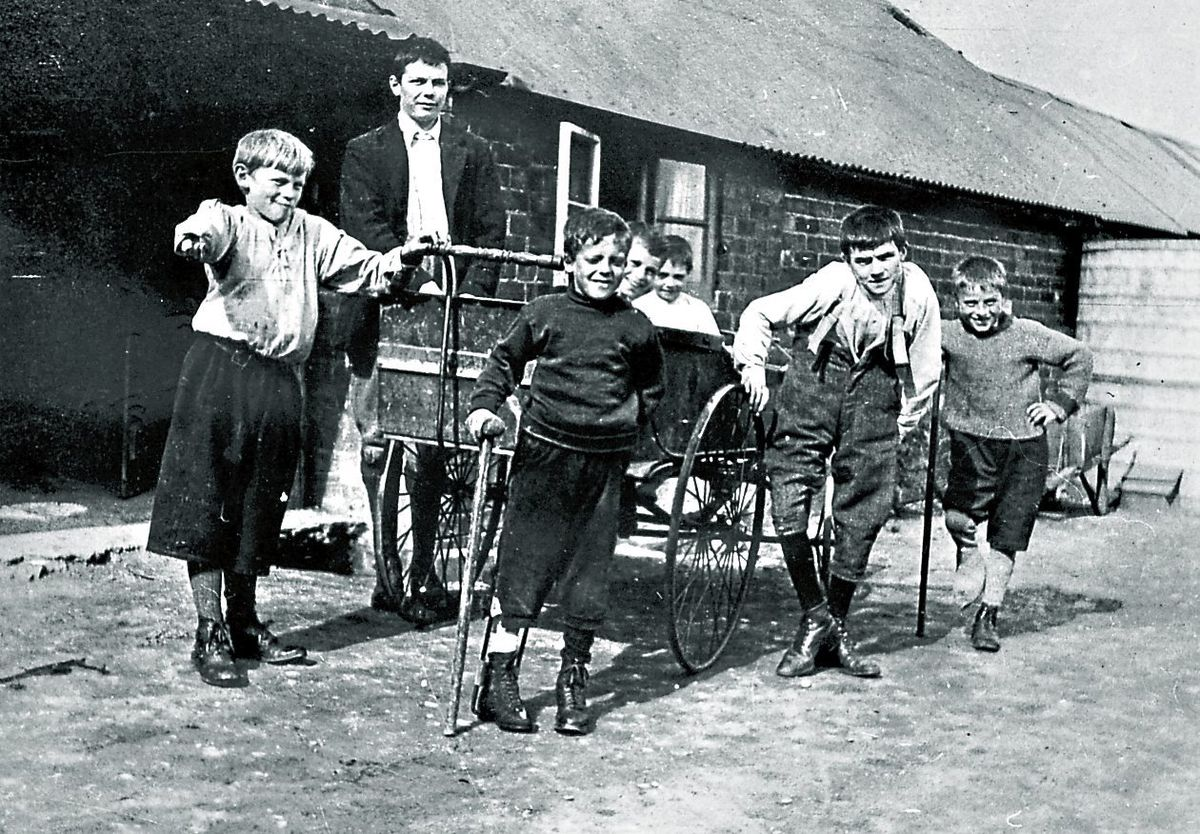 """Young """"cripples"""" – as they were described in those days – at the hospital in Baschurch."""