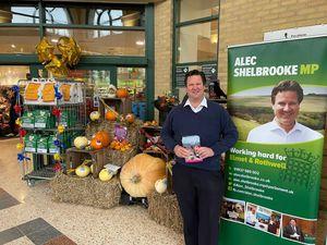Alec Shelbrooke constituency surgery at a supermarket