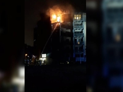 80 firefighters tackling blaze in block of flats