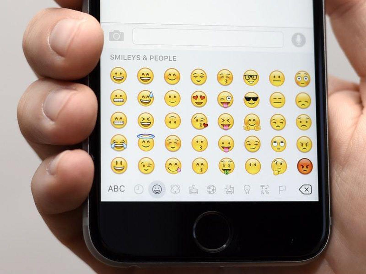 Emojis on an Apple iPhone 6s