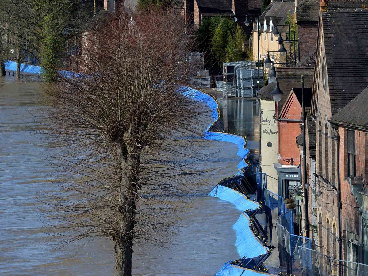 Ironbridge's temporary flood barriers were overwhelmed by the sheer weight of water back in February