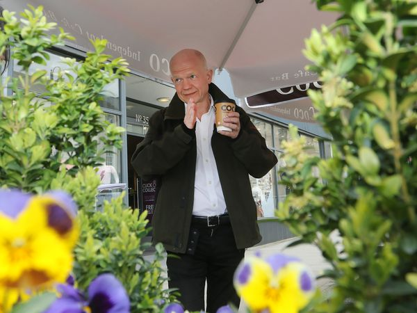 William Hague visits Welshpool. Picture: Phil Blagg