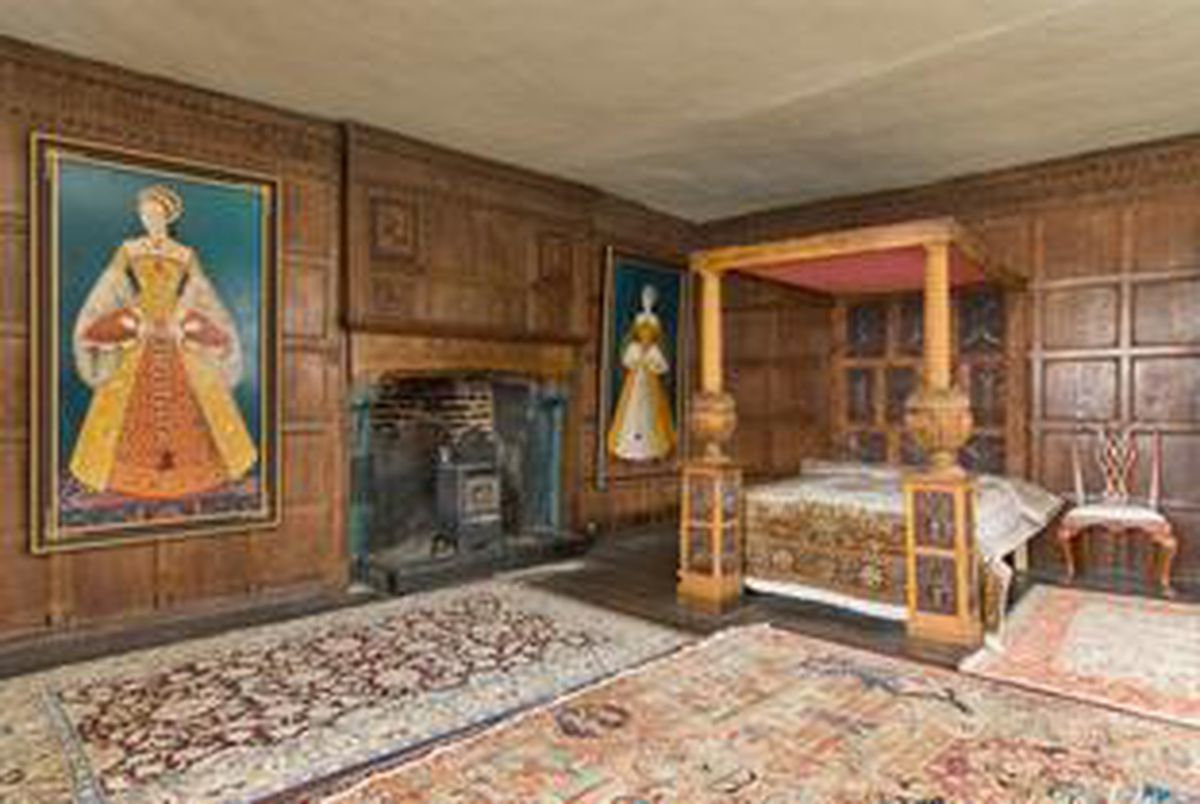 One of the bedrooms at Castle Lodge