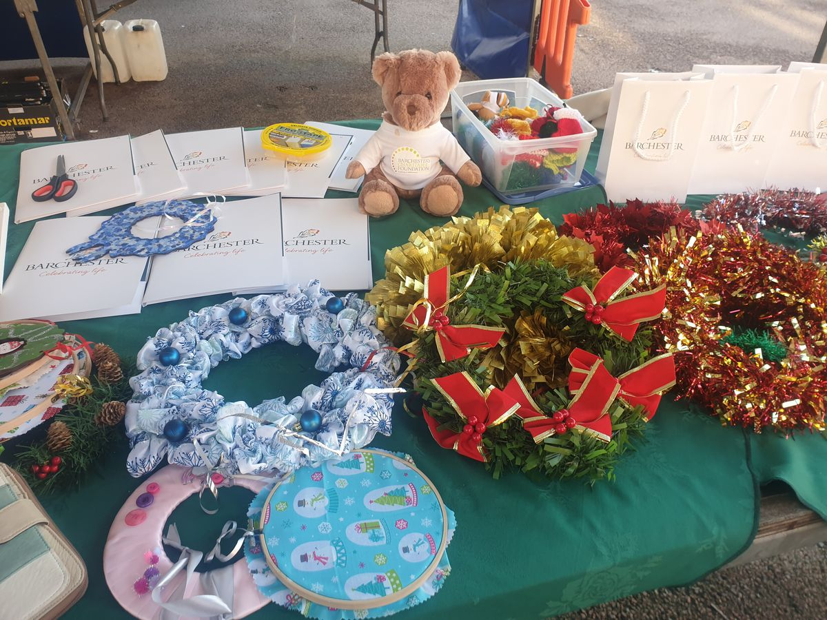 Some of the beautiful wreaths that were available on the stall
