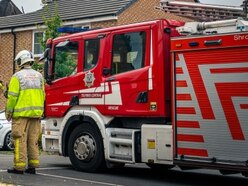 Person rescued from house fire near Shrewsbury