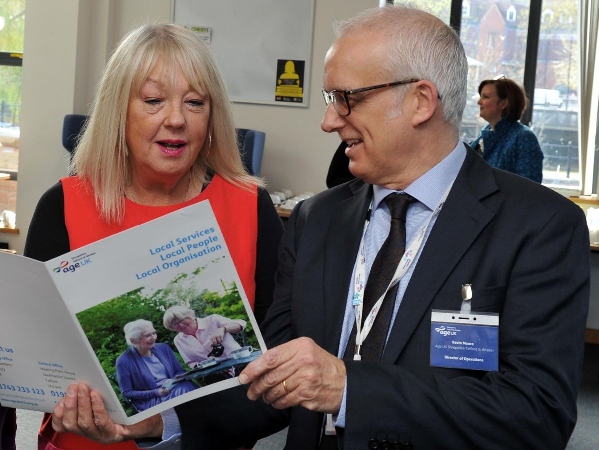 Heather Osborne, chief executive of Age UK Shropshire Telford & Wrekin, and Kevin Moore, deputy chief executive and director of operations