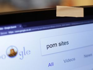 A Google search for 'porn sites'