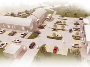 The proposed pub and stores would stand near the Redhill Way roundabout and serve the new 450-home estate to the northeast. Picture: Barton Willmore Design Ltd / Telford and Wrekin Council