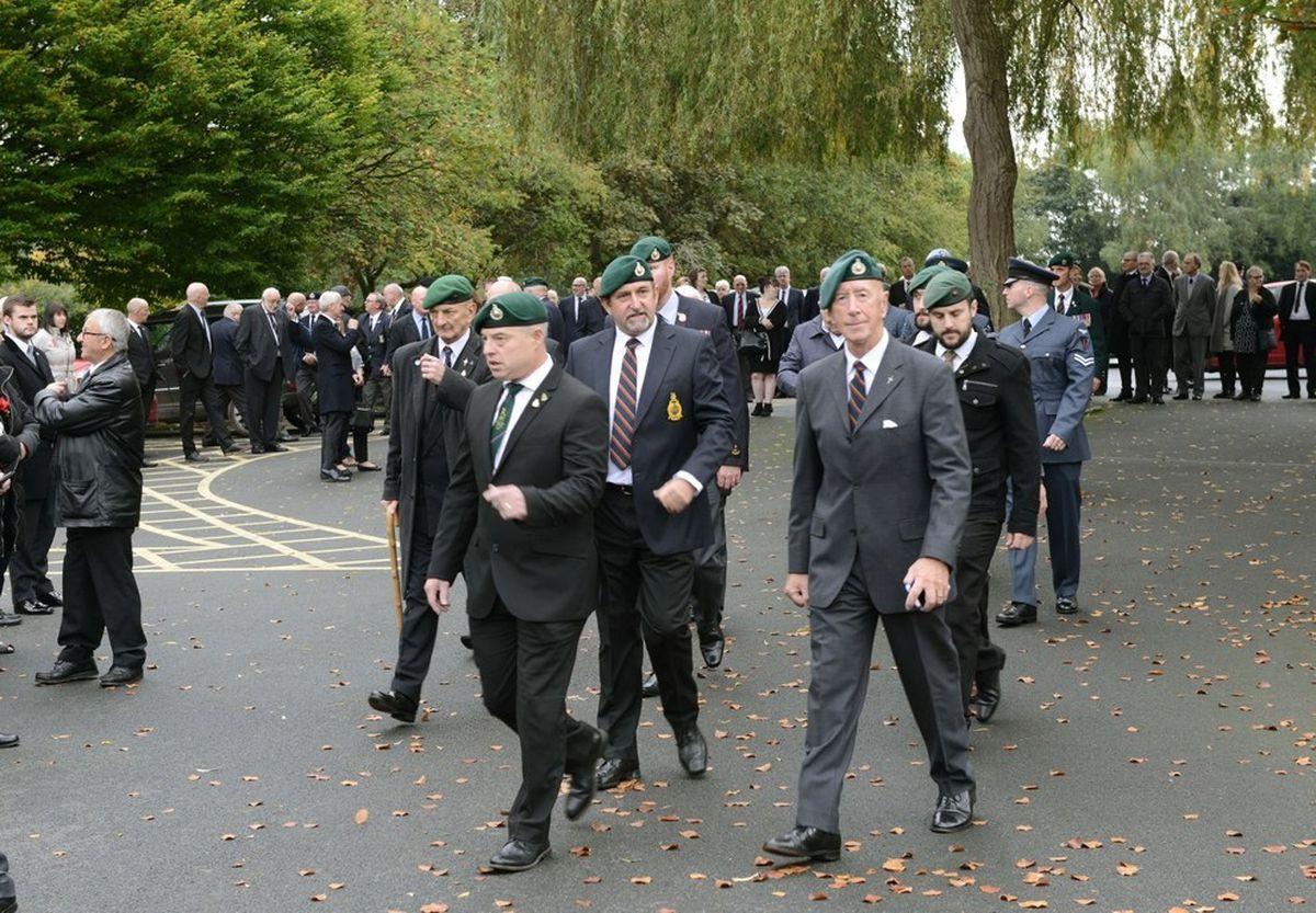 The funeral of David Kerr in Shrewsbury