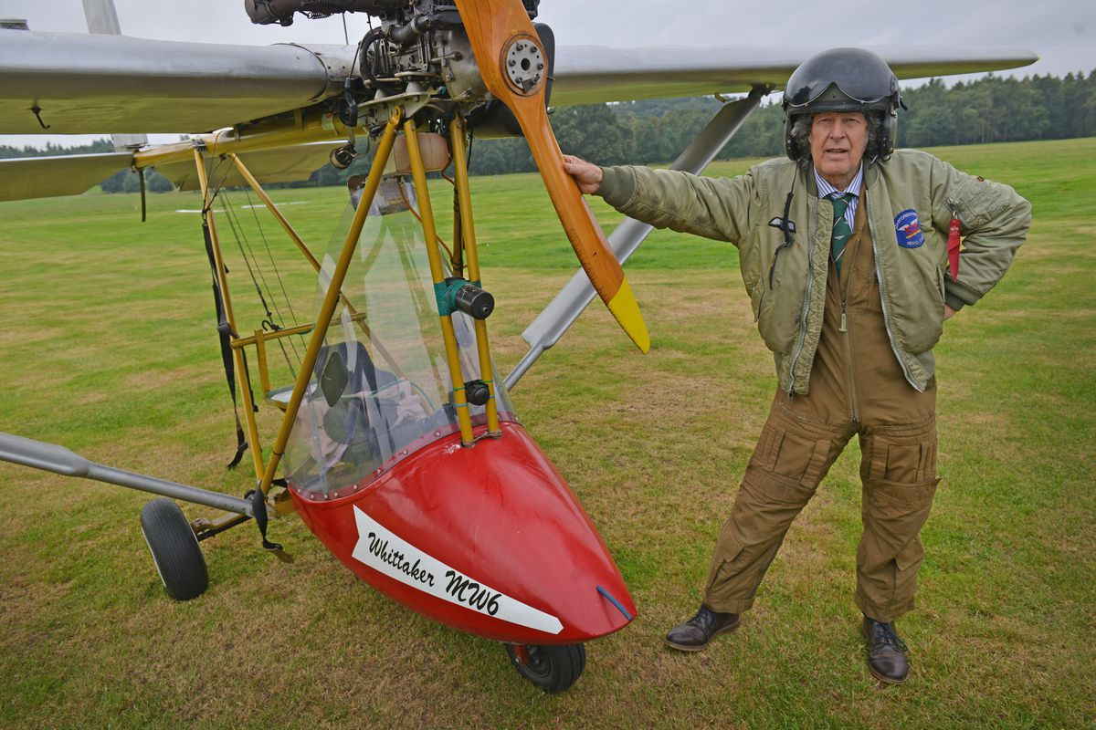 Bob Arnold from Staffs Aero Club at Weston Park Airshow International