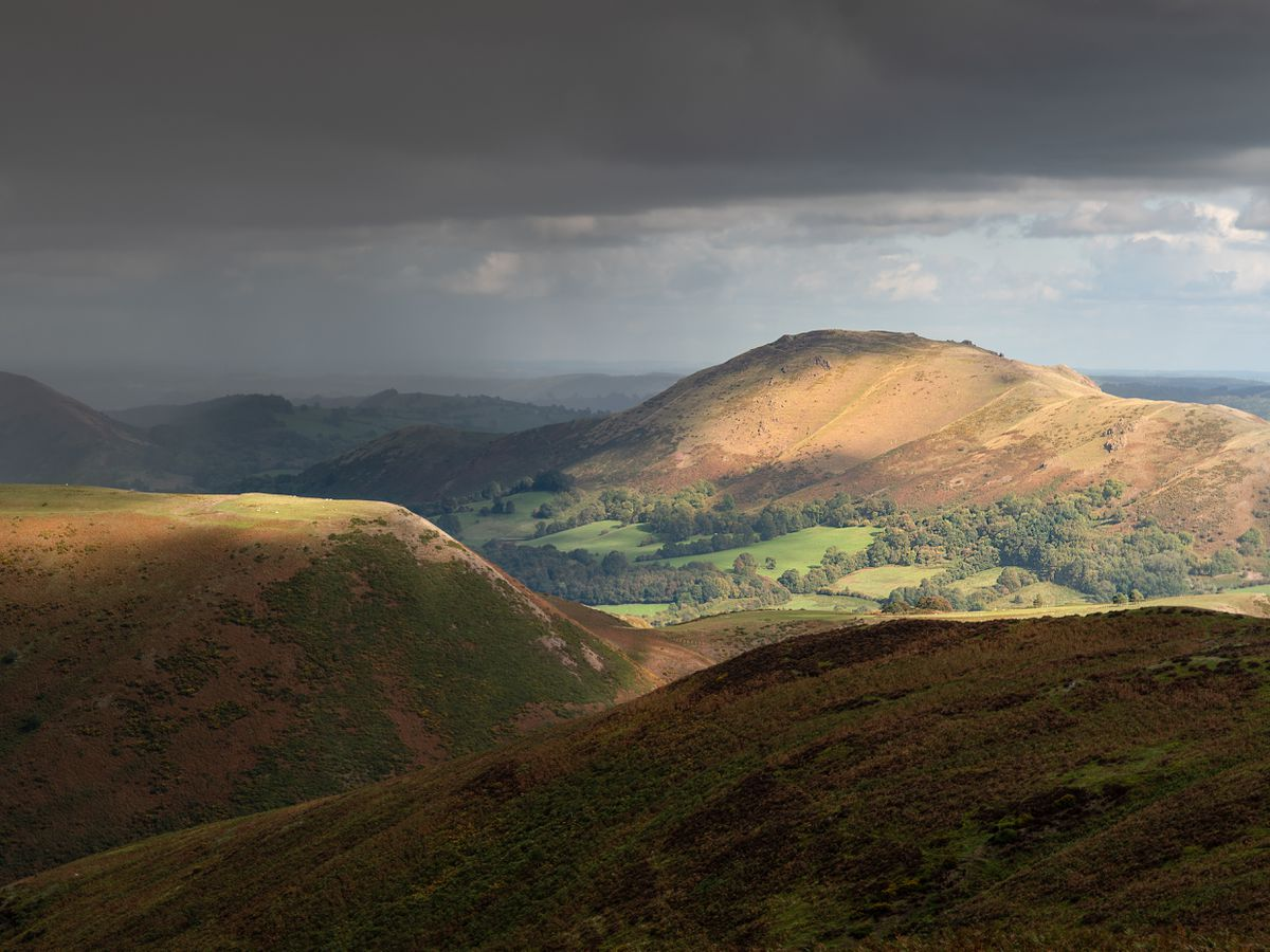 Richard Greswell's photograph, titled Storm on the Shropshire Hills, landed him the top prize in the competition