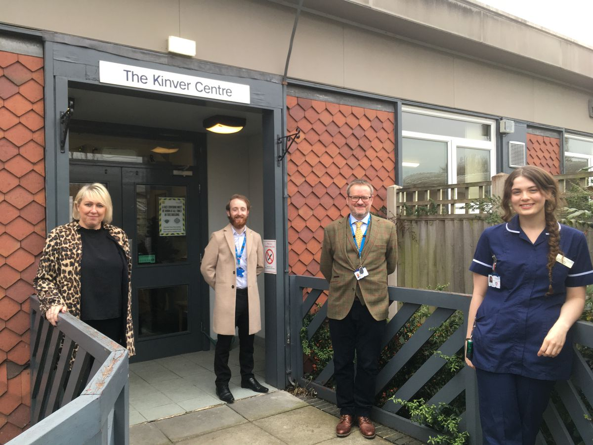 Members of the team from left, Mel Watson, programme director; Brandon John, clinical liaison practitioner, Dr Rob Dennis, consultant psychiatrist and Jordan Ashfield, deputy ward manager