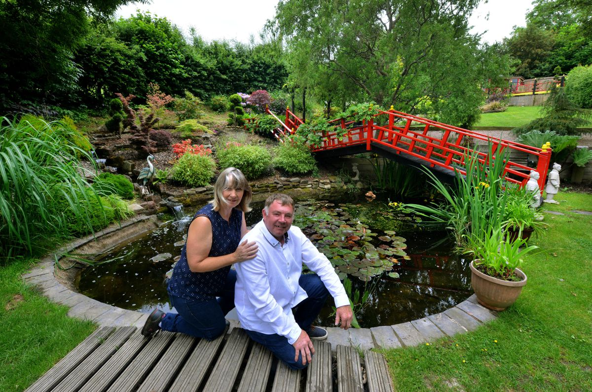 Andrew Roberts and Dru Yarwood, are opening their wonderful garden this weekend for the National Garden Scheme