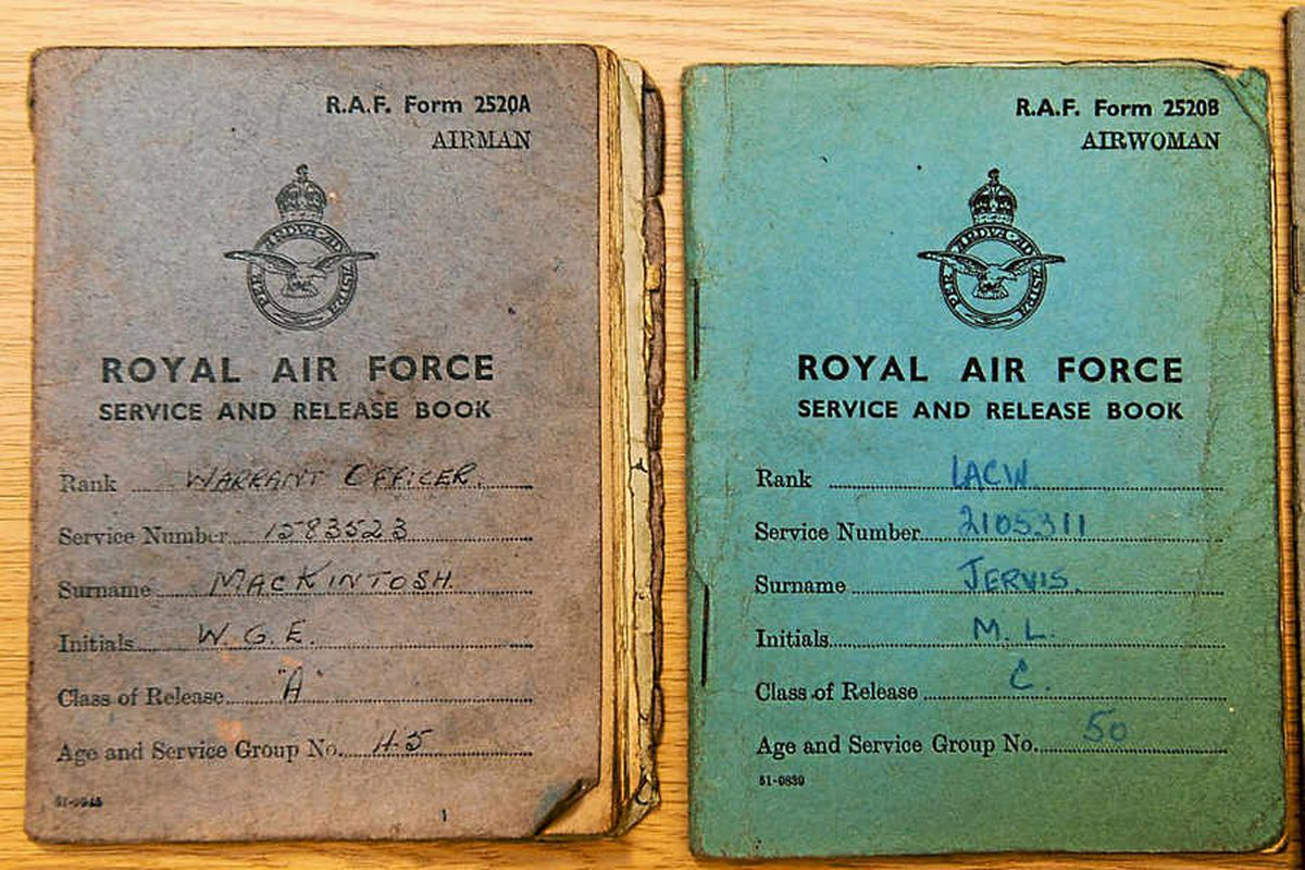 Warrant books for the two RAF officers