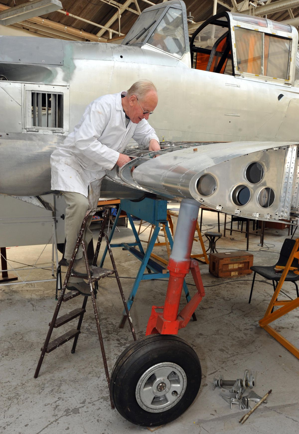 Terry Herrington from Dudley was an engineer who worked on Concorde. He finally achieved his dream of flying on the plane in 2003.