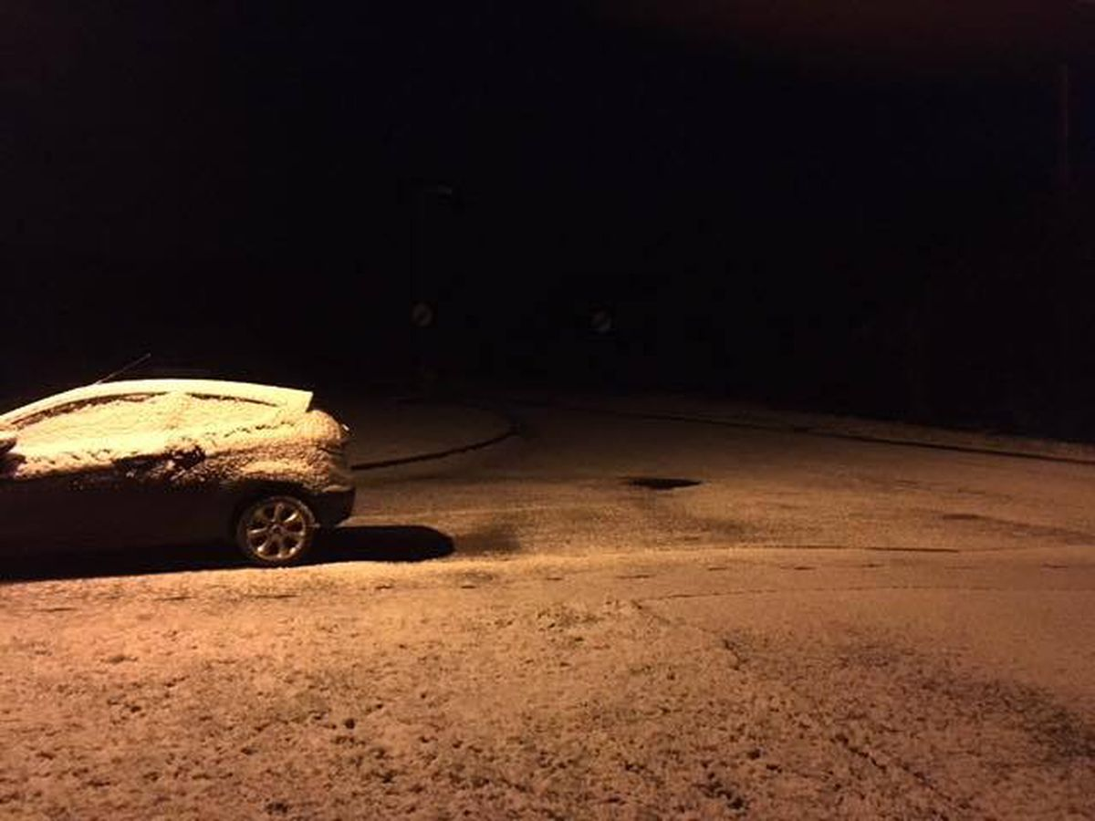 Early morning snow in Minsterley. Picture: Wendy Jones