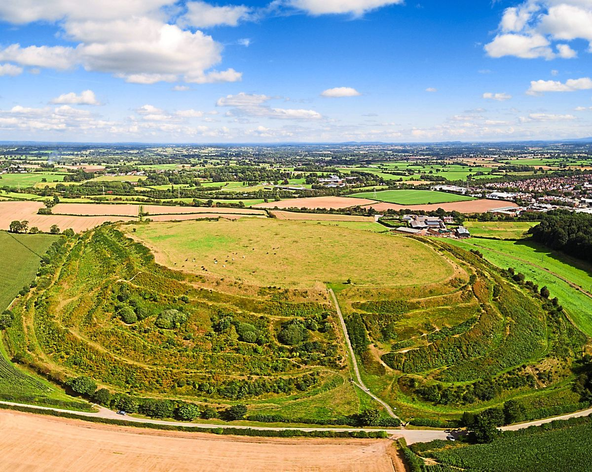 The scale of sites such as the Old Oswestry Hill Fort can be fully appreciated