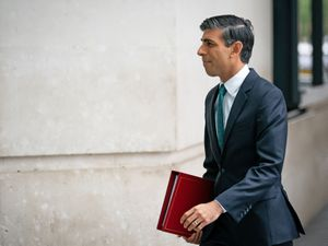 Chancellor of the Exchequer Rishi Sunak arrives at BBC Broadcasting House