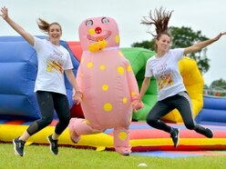 Inflatables are no obstacle for fundraisers in Newport