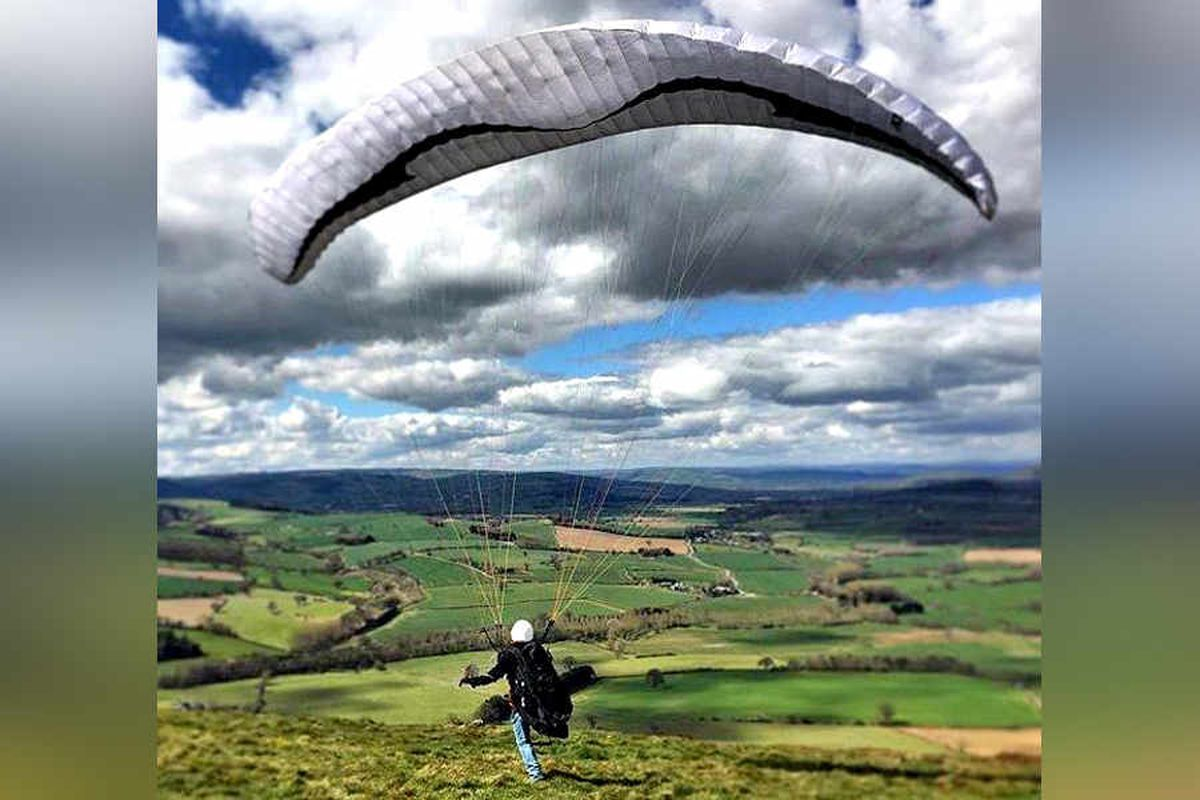 Leap of faith for Shropshire paraglider Richard