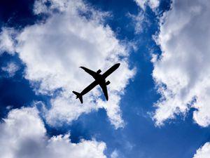 A plane takes off