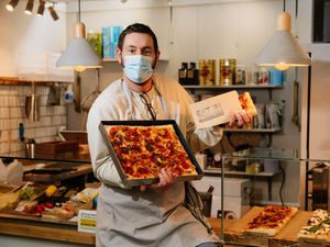 Nick Turner has launched the Eat In pizza and pasta stall in Shrewsbury Market Hall
